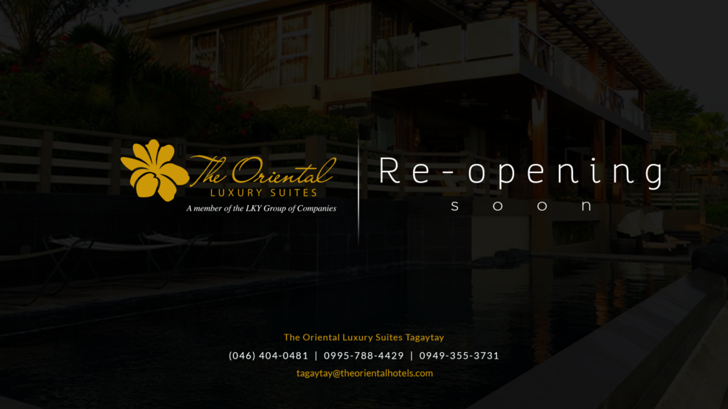 The Oriental Luxury Suites Tagaytay reopens